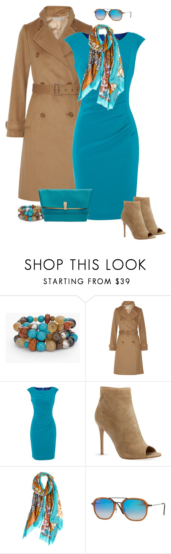 """""""Peep Toe Ankle Booties for Fall Contest Entry"""" by tracy-gowen ❤ liked on Polyvore featuring Chico's, Vince, Episode, Gianvito Rossi, Calypso Private Label, Ray-Ban and Henri Bendel"""