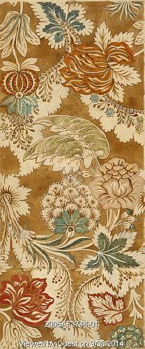 Design for woven silk, by Anna Maria Garthwaite. London, England, mid-18th century