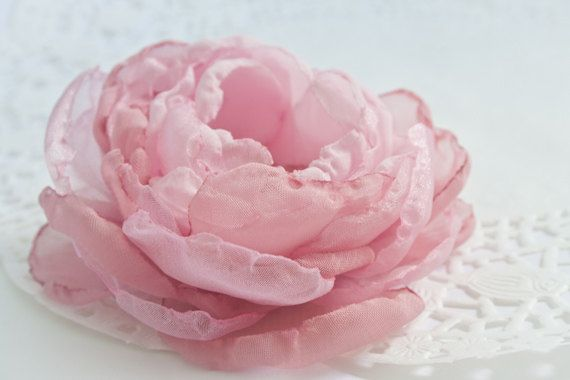 Blush pink cabbage rose chiffon flower brooch or by belleblooms blush pink cabbage rose chiffon flower brooch or by belleblooms 2500 french shabby chic ness pinterest blush pink chiffon flowers and cabbage mightylinksfo Images