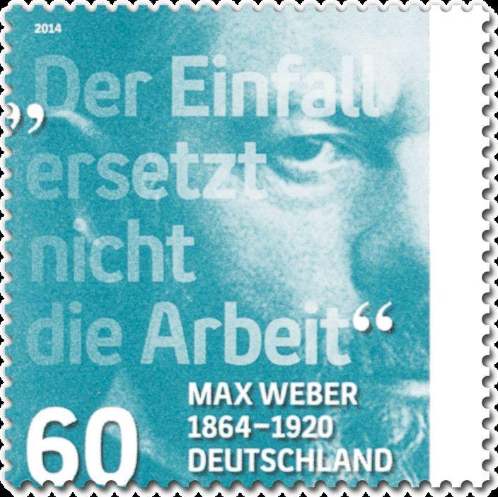 Briefmarke 150th Birthday Max Weber Deutschland Brd