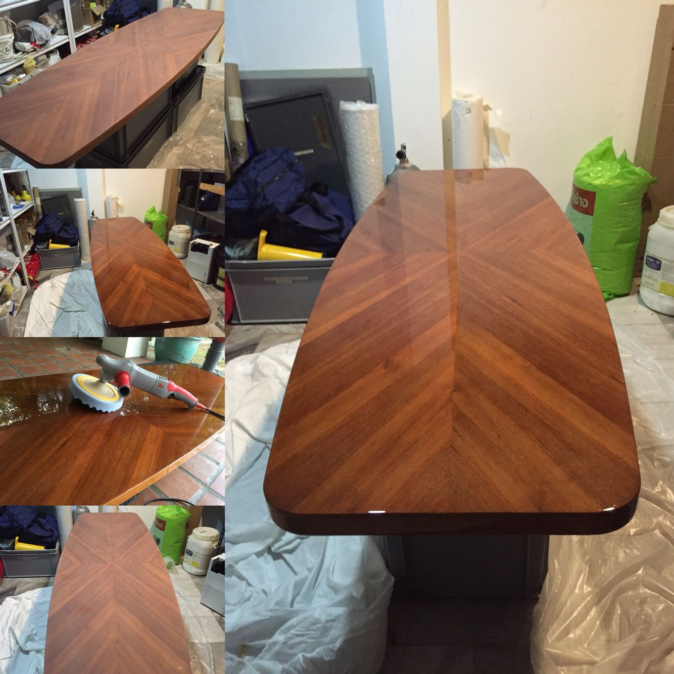 Astounding Large Teak Coffee Table Stripped To Bare Wood Built Up And Lamtechconsult Wood Chair Design Ideas Lamtechconsultcom