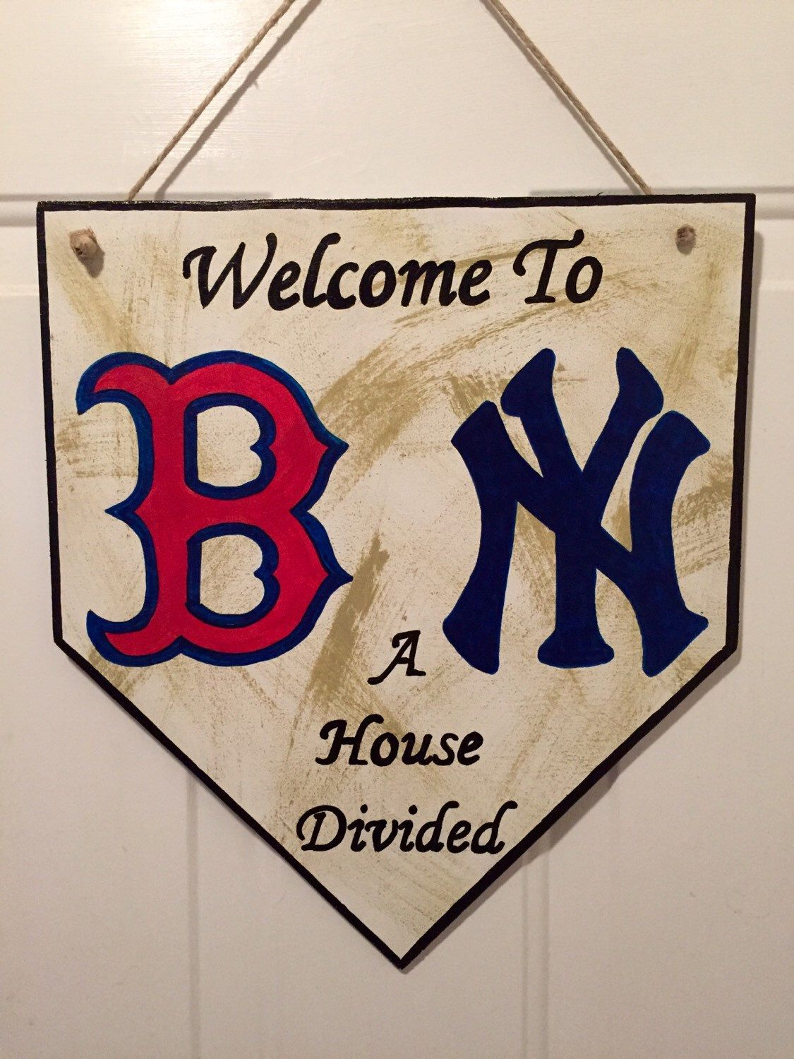 Home Plate Sign Boston Red Sox Sign New York Yankees Sign Etsy Boston Red Sox Yankees Decor Red Sox