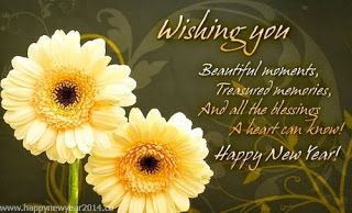 Happy New Year Sweetie I Wish You Many Great Things And Blessings