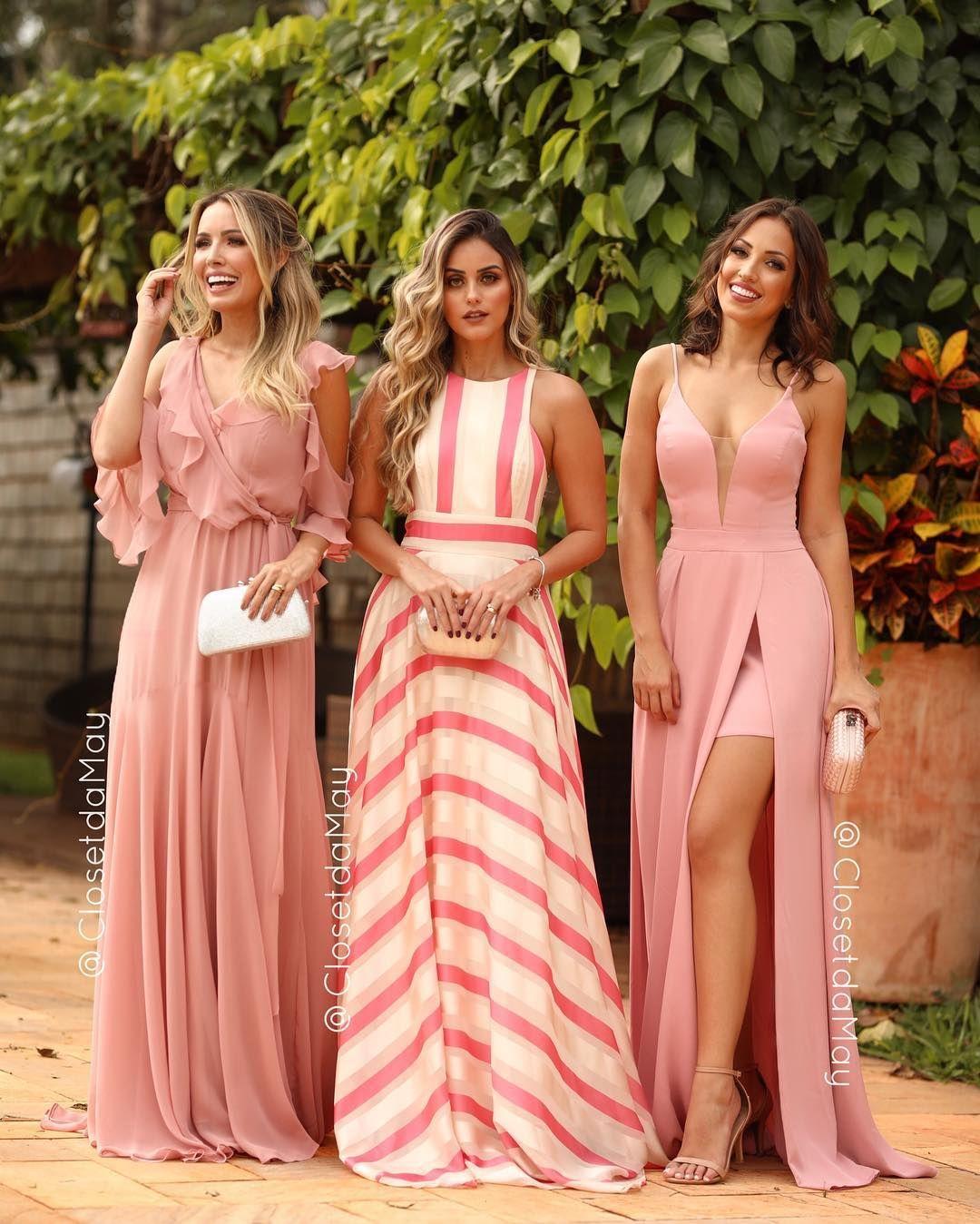 5fad765d0 Tons de rosa 💕 Conheça a Closet da May a loja com maior variedade em  vestidos