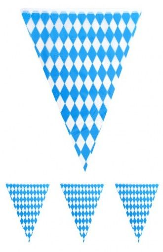 5f6d43811687c guirlande fanions à carreaux bleus et blancs - fête de la bière ...