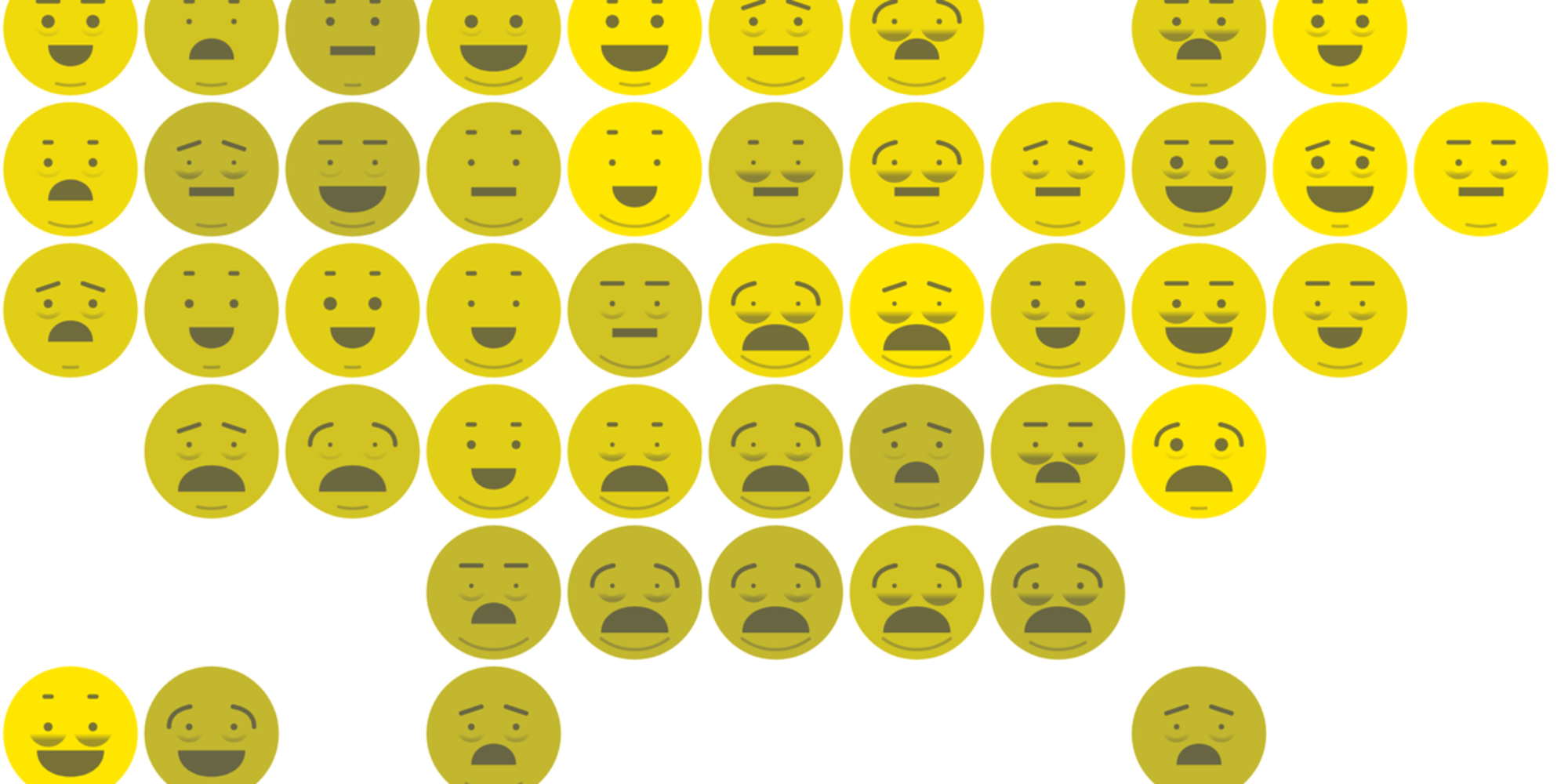 The Best And Worst States For Quality Of Life According To Emojis Data Visualization Emoji Map