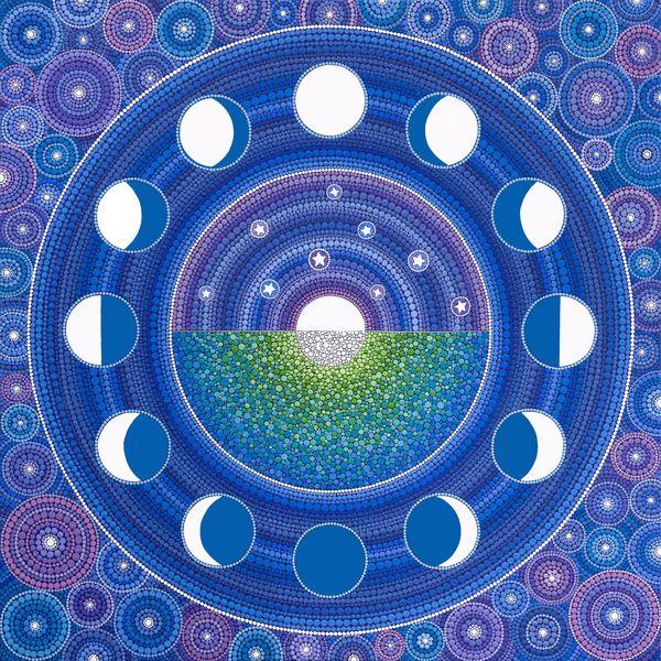Moon Phase Mandala Art Print by Elspeth McLean | Society6
