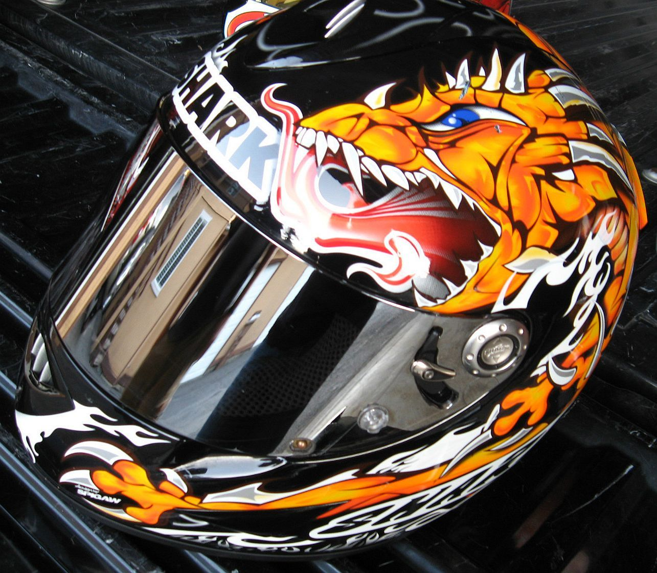 fa0d7e58 Shark Motorcycle Helmet (Men's Pre-owned RSR2 Streetbike Helmet, Size XL,  Miguel Duhamel Race Replica, Silver & Clear Irridium Shield)