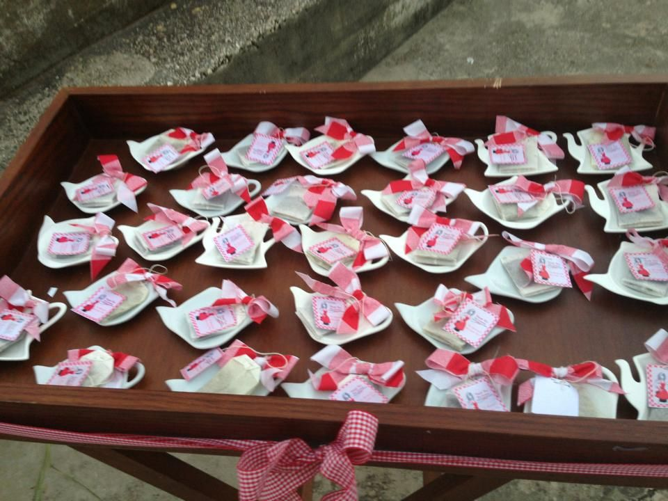 Picnic Kitchentea Party Red White Banner Decoration Table