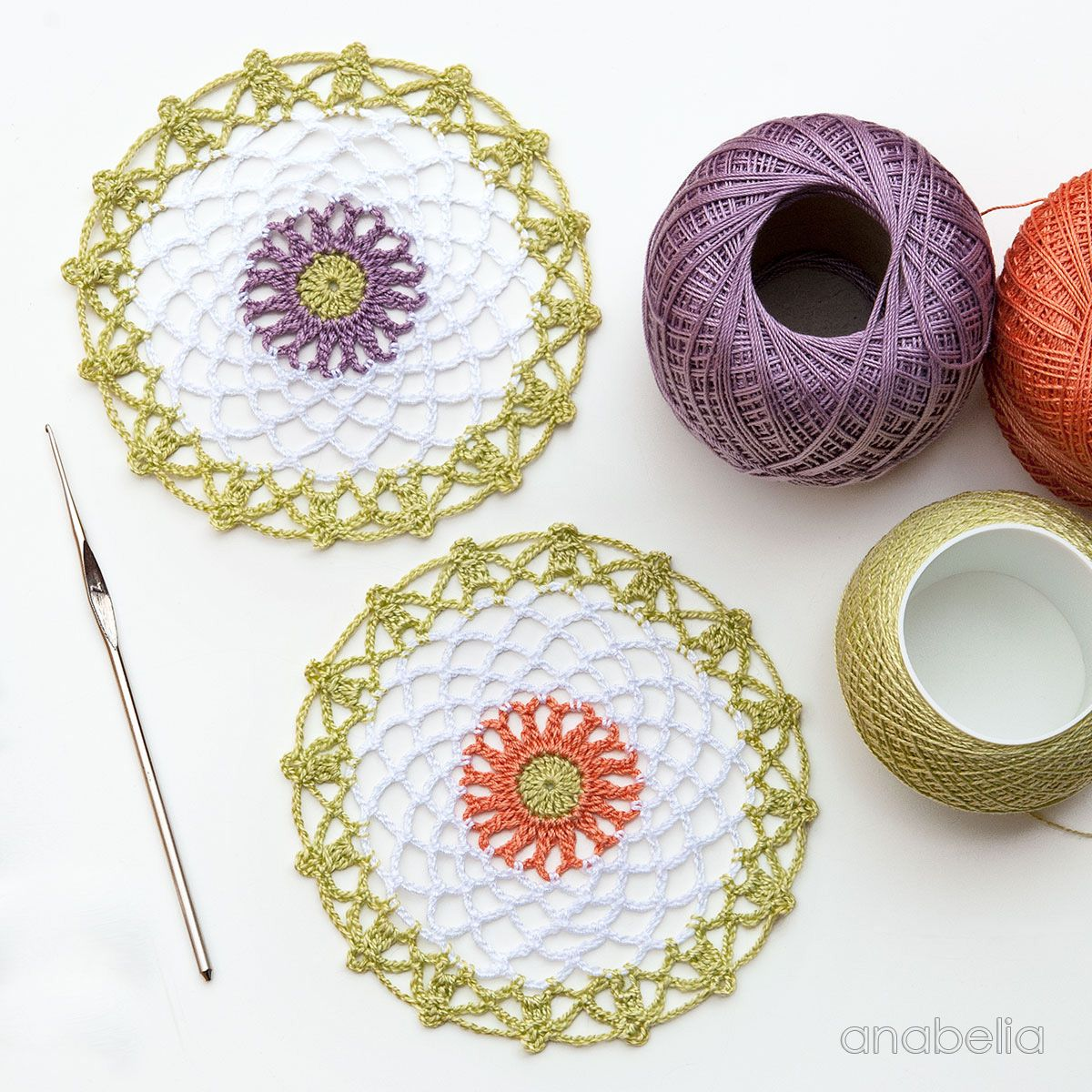 Mini crochet doilies free pattern, Anabelia Craft Design | crochet ...