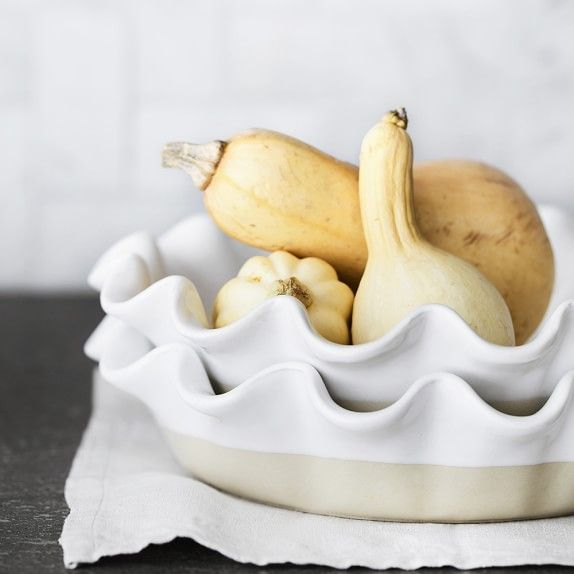 Emile Henry Artisan Deep Ruffled Pie Dish Kitchen Cupboards Jiffy Cornbread Mix Complete Kitchens