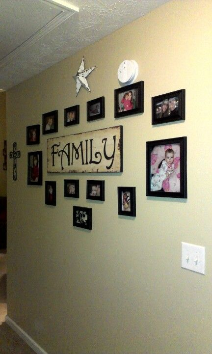 Family Collage Wall Decorating With Pictures Ideas Accent