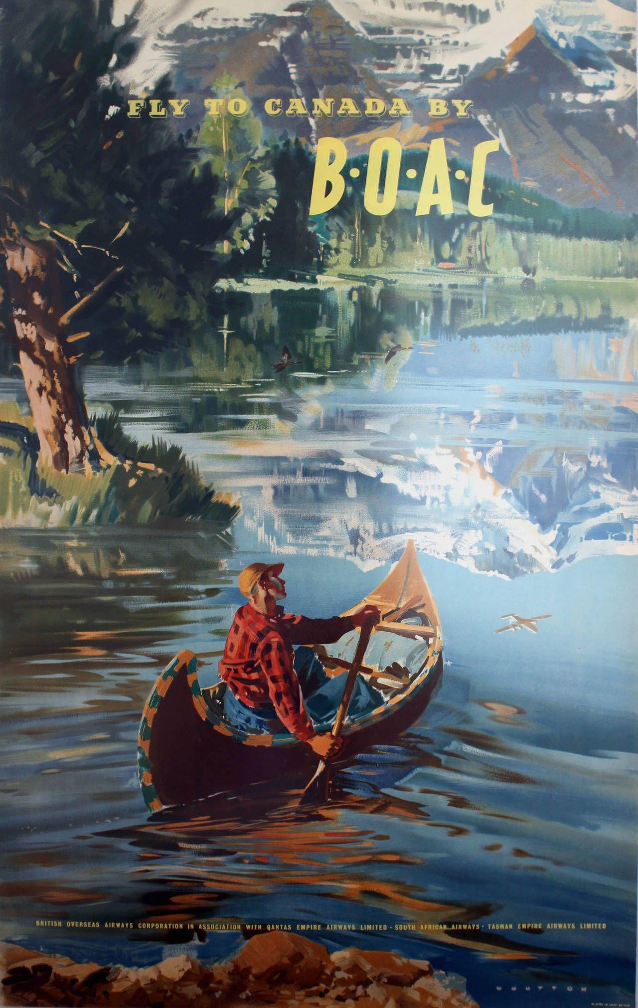 Frank wootton original vintage travel advertising poster