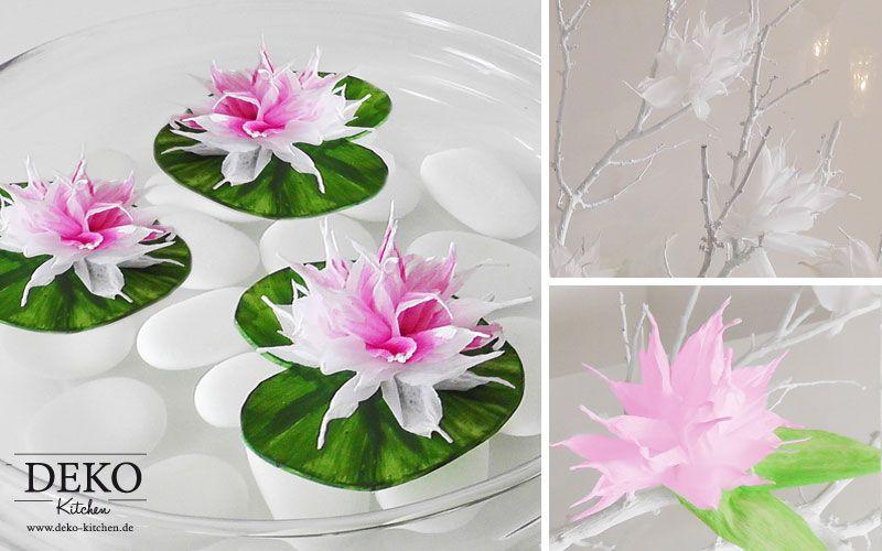 DIY Blüten und Seerosen aus Krepppapier Deko-Kitchen   Tischdeko ...