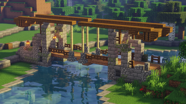 A little Lifting bridge for my village ! What do y
