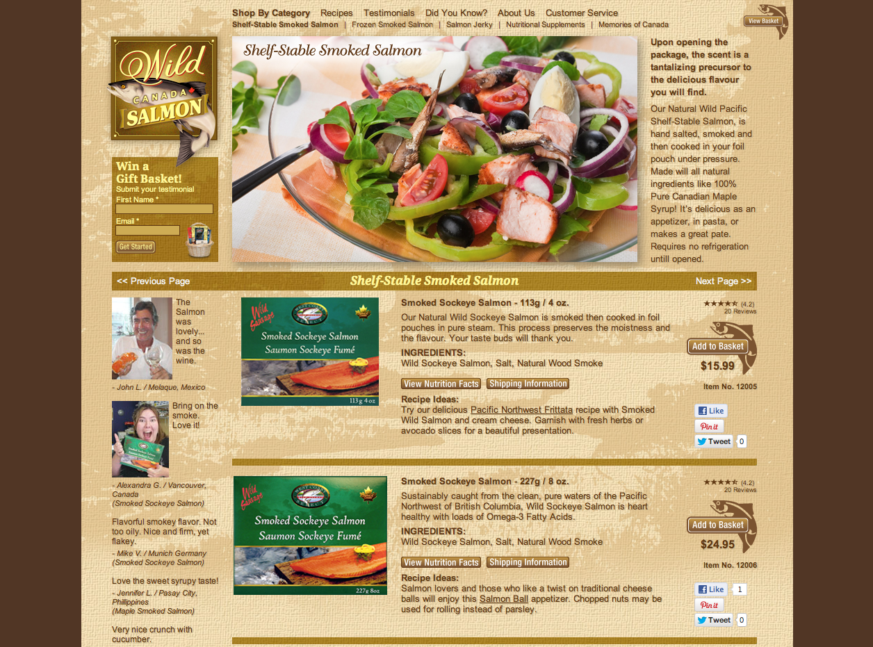Come Taste The Wild Wild Smoked Salmon From Canada S Pacific