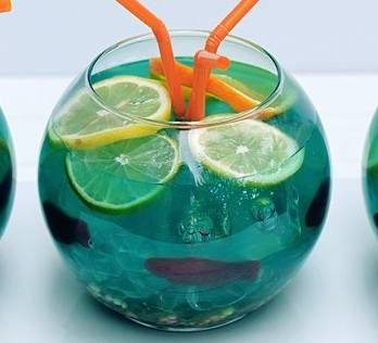 Fishbowl punch recipe inspired by finding nemo disney for Fish bowl recipe