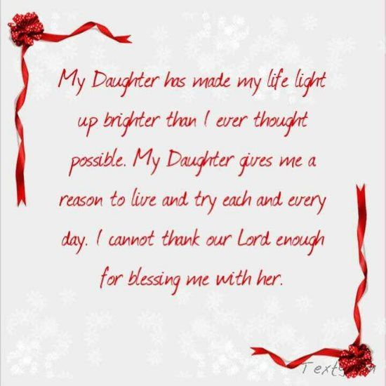 Thank You God For Blessing Me With Such A Wonderful Daughter My