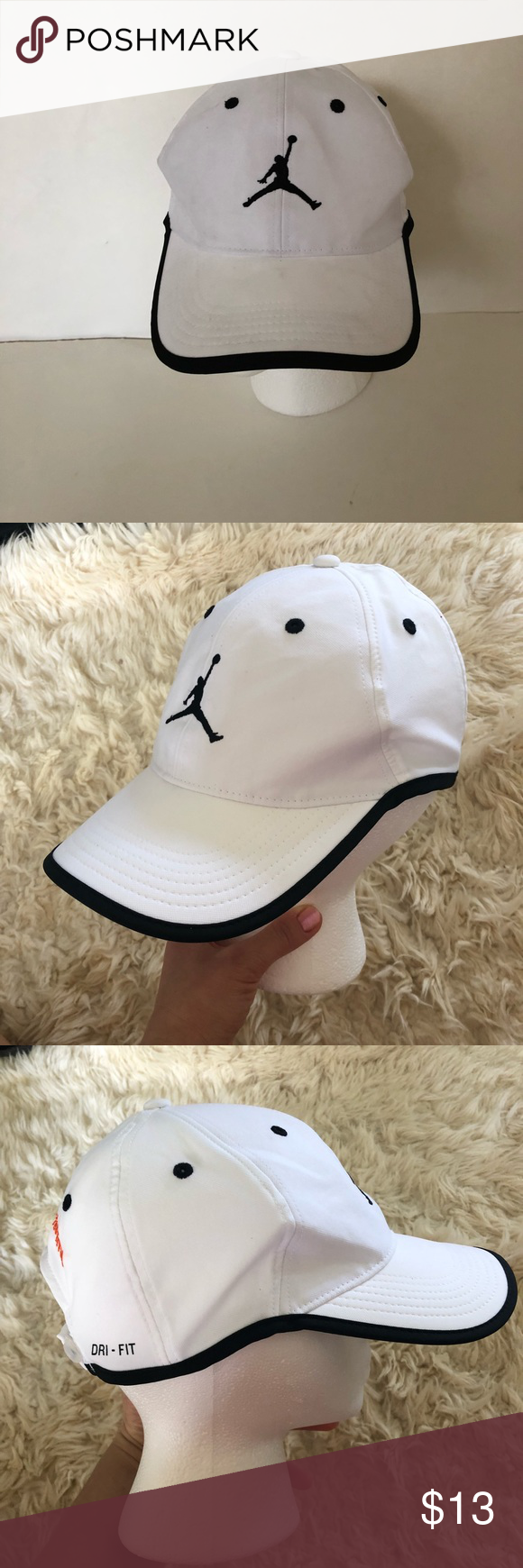 JORDAN HAT Pre owned JORDAN DRI FIT HAT. Velcro adjustable back. Back says-  vanport jazz festival One size fits most Jordan Accessories Hats 1832d030dd