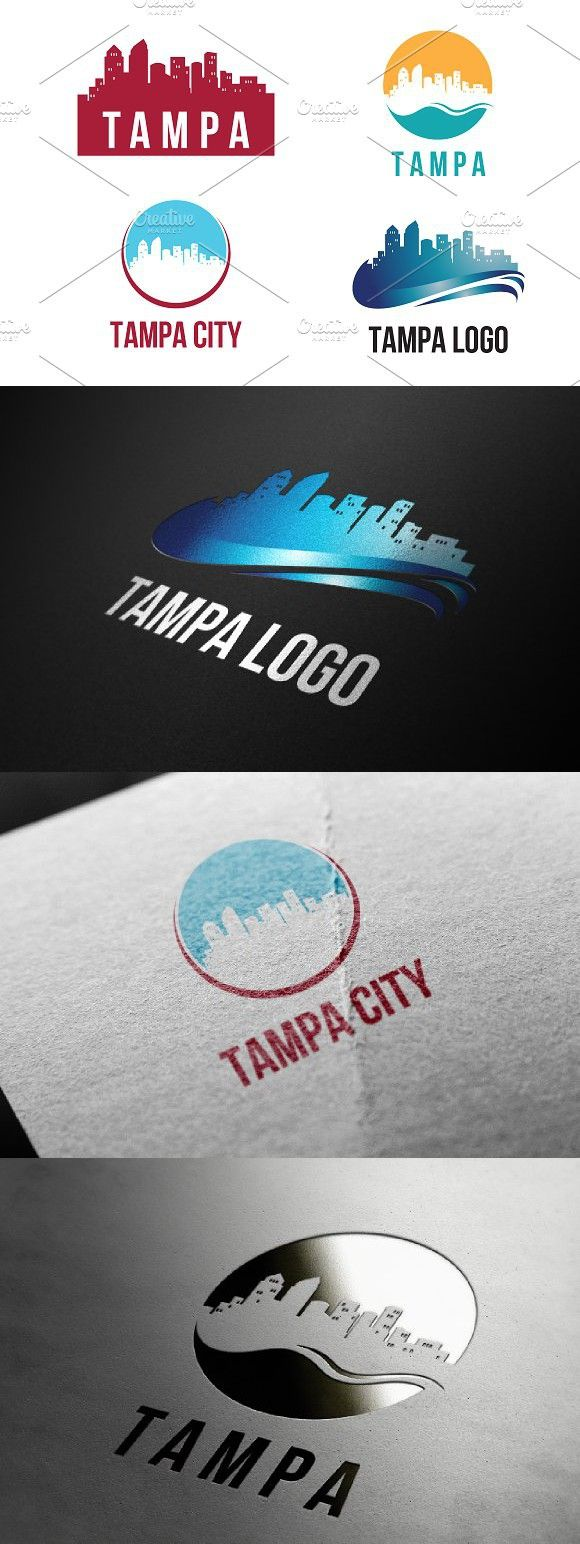 4 Tampa City Landscape Logo Template Travel