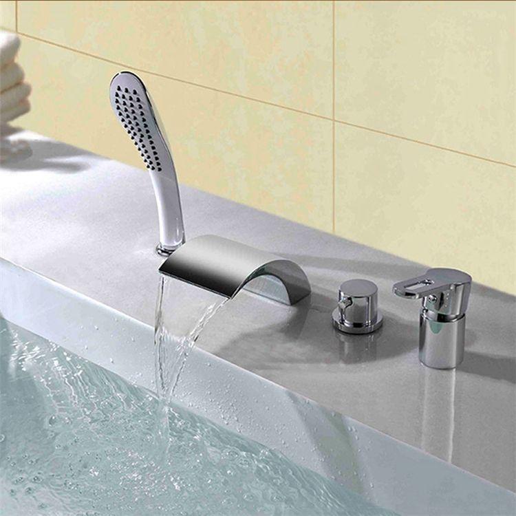浴槽水栓 バス蛇口 シャワー混合栓 浴室水栓 ハンドシャワー付 水道