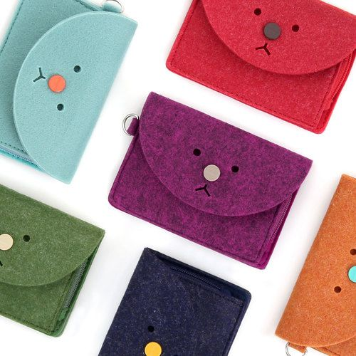 Monopoly Felt Toffeenut zipper card case holder with strap