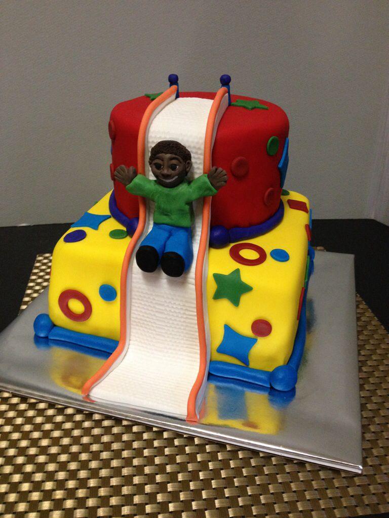 Bouncy House Cake