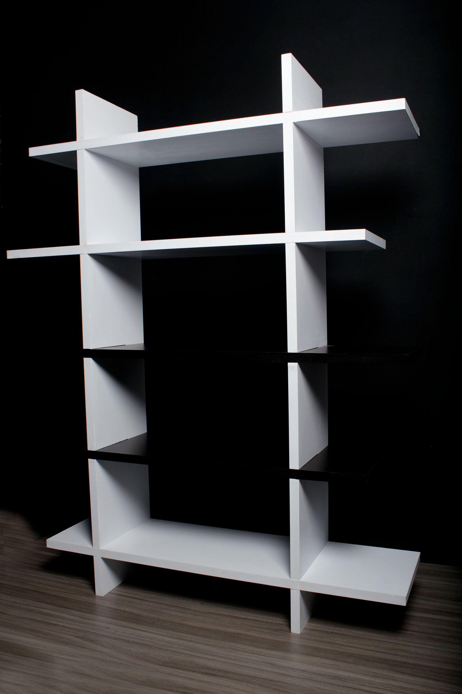 Repisa Modular Material: Madera Color: Blanco y Wengue Medidas: Alto ...