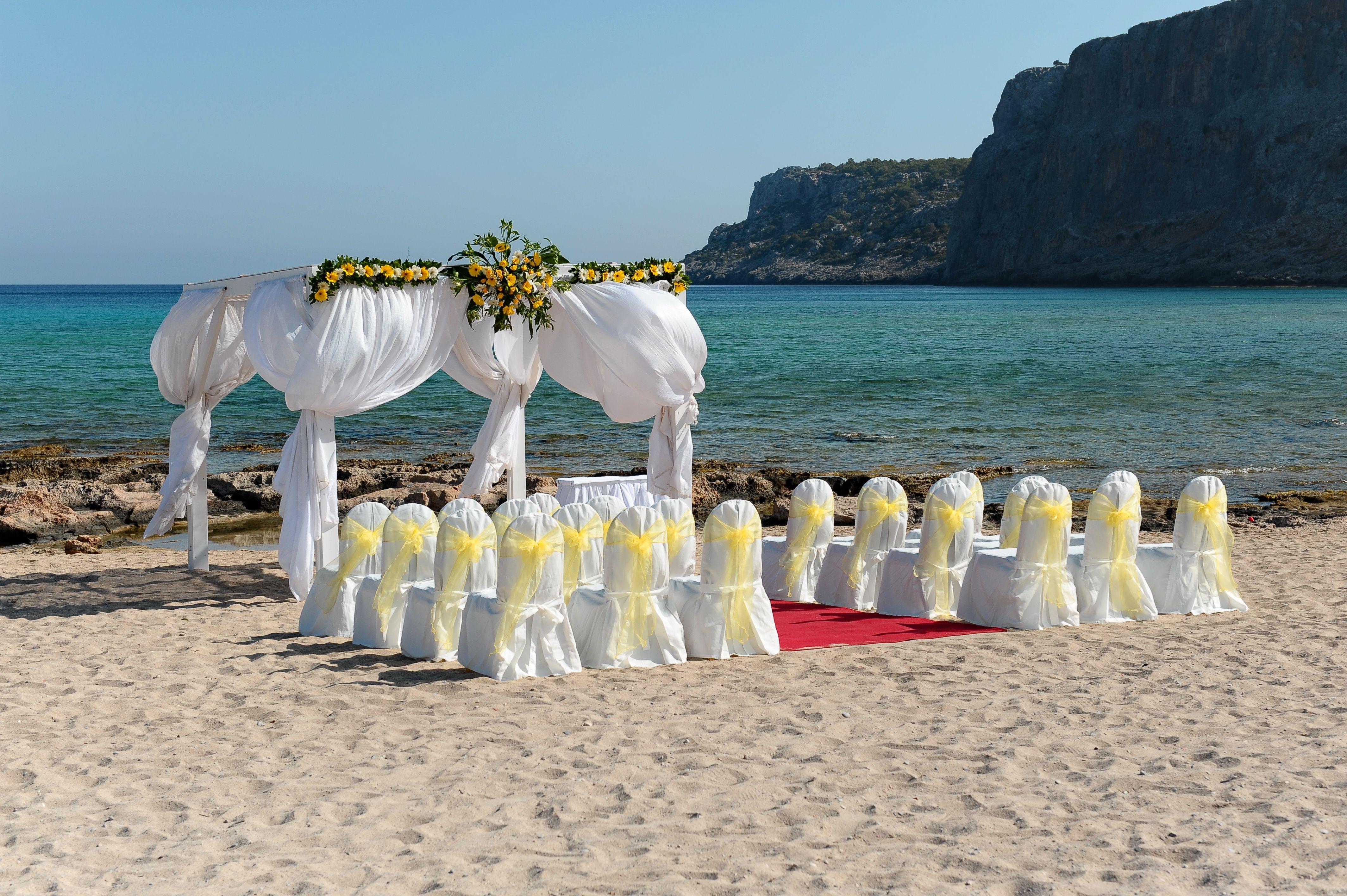 Ceremony set up lindos memories hotel rhodes greece