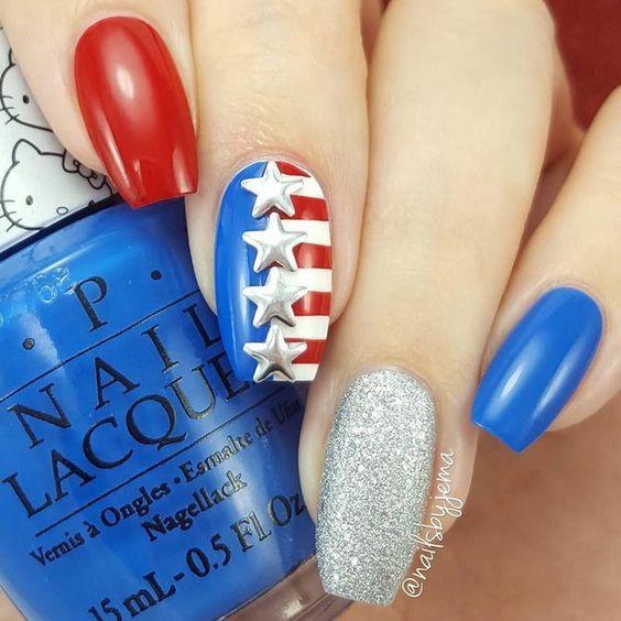 Nail Art para el 4 de julio: ¡Manicura patriótica | Uñas ...