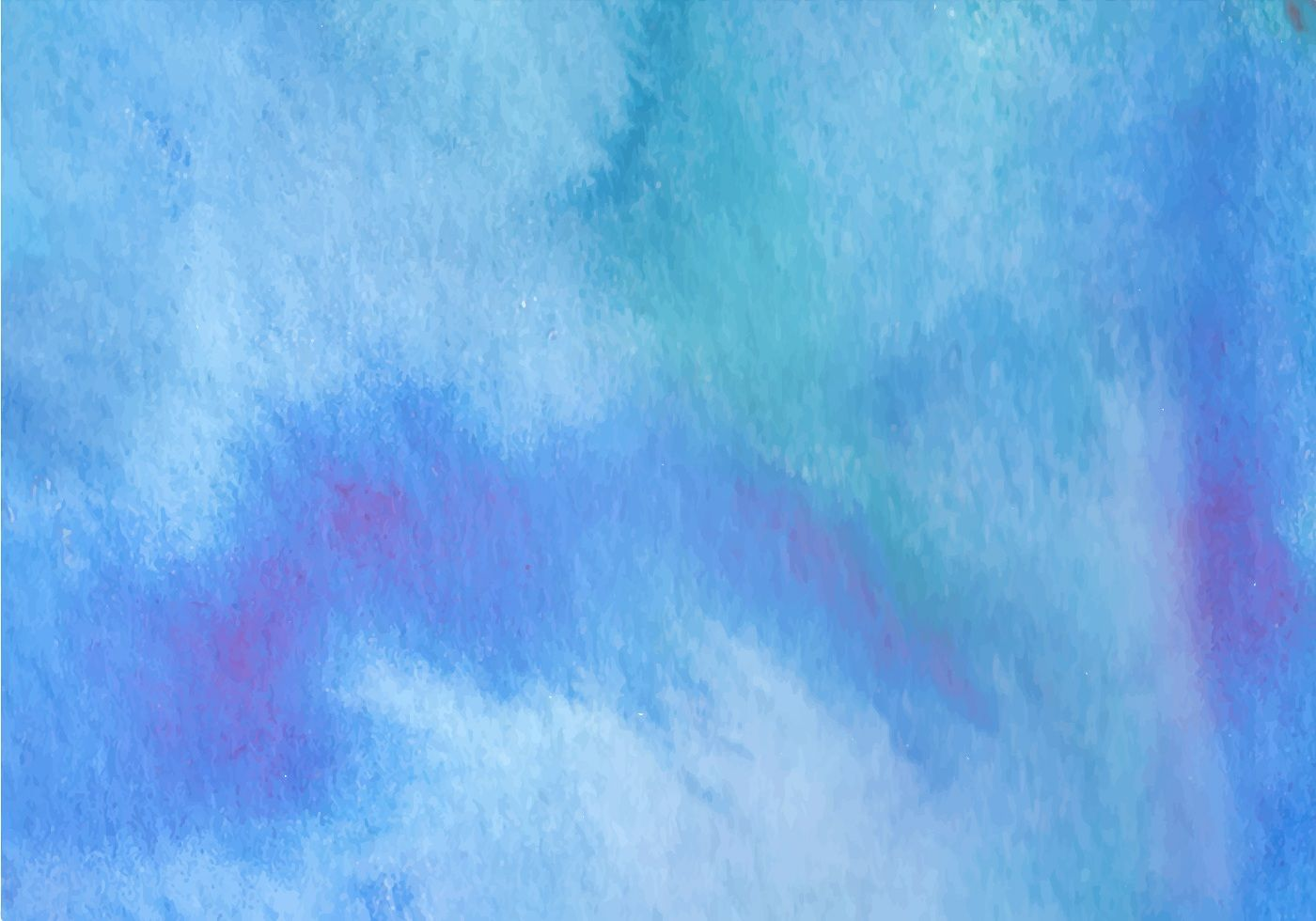 Blue Watercolor Background Hand Draw Aquarelle Texture