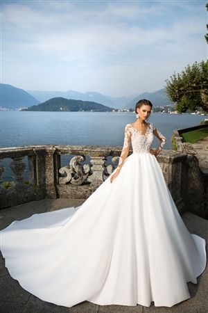 Long Sleeve Wedding Dresses, Long Train Wedding Dresses, Custom ...
