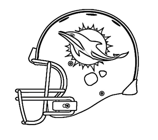 Football Miami Dolphins Coloring Page For Kids Pages Rhpinterest: Coloring Pages Miami Dolphins At Baymontmadison.com