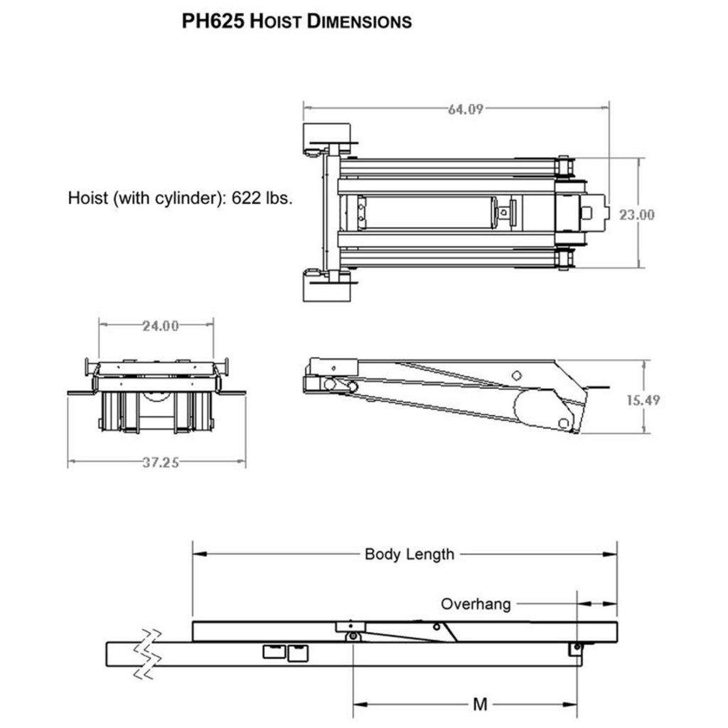 Wiring Diagram For A Pierce Arrow Dump Box Free Download Schematics 12 Ton 24000 Lb Trailer Hydraulic Scissor Hoist Kit All At