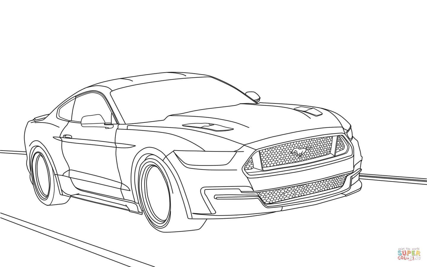 Free Mustang Coloring Pages With Ford Mustang 2015 Page Coloring
