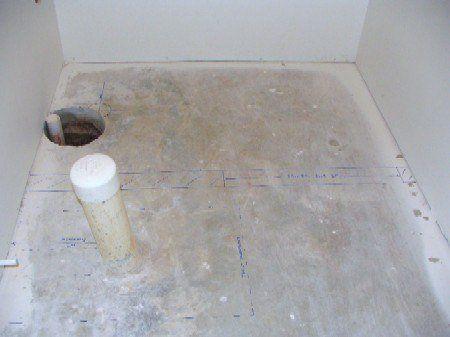 Basement Bathroom Plumbing Rough-in: Floor Blueprint