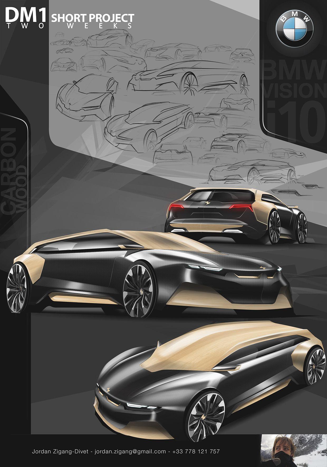 Https Www Behance Net Gallery 23891079 Bmw Vision I10 Short Project Automotive Design Bmw Concept Bike Design