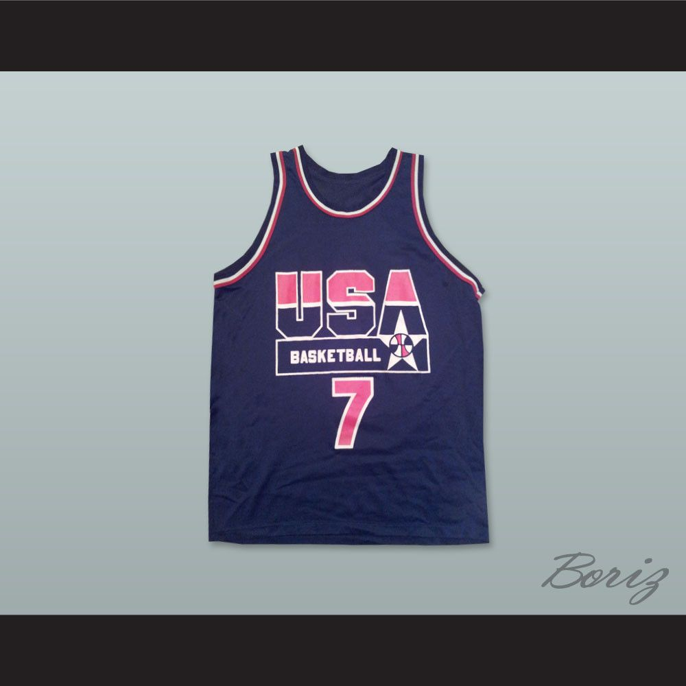 aa67671bca2e 1994 Shawn Kemp 7 USA Team Away Basketball Jersey. STITCH SEWN GRAPHICS  CUSTOM BACK NAME