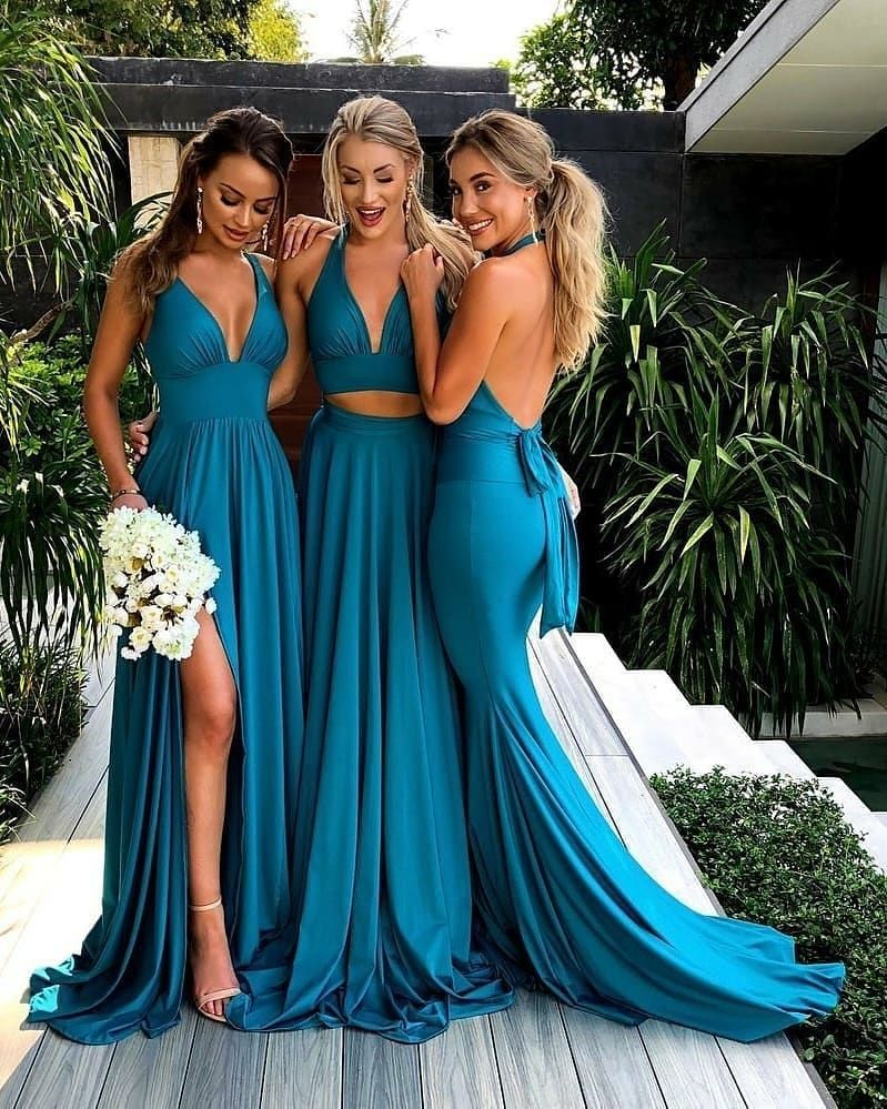 Pin By Faith Mikkelson On Wedding Things In 2020 Turquoise Bridesmaid Dresses Backless Bridesmaid Dress Cheap Bridesmaid Dresses