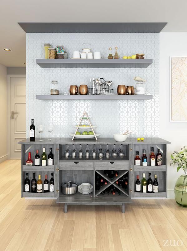 Rave Old Gray Bar Emfurn Dining Room Bar Home Bar Designs Bar Furniture