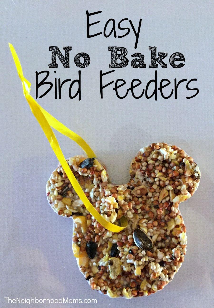 Easy No Bake Bird Feeders Kid Crafts And Diy Bird Feeders Birds