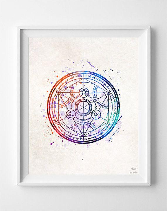 Fullmetal Alchemist Print Transmutation Circle by InkistPrints | Tat ...