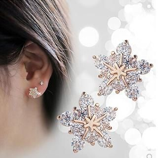 Buy 'Nanazi Jewelry – 925 Sterling Silver Snowflake Earrings' with Free International Shipping at YesStyle.com. Browse and shop for thousands of Asian fashion items from China and more!