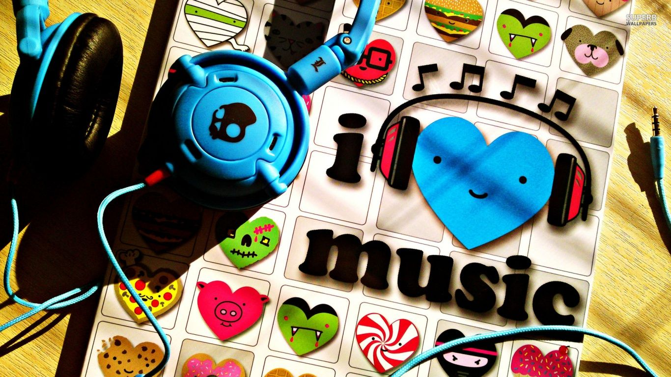 Music Lovers Download This Colorful Music My Life Hd Wallpaper Free For Desktop Background Http Www Gethdwallpaper Music Wallpaper Hello Music Music Images