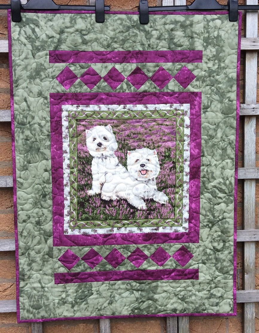 Dog beddingg blanket dog quilthandmade sofa throw purple and dog quilthandmade sofa throw purple and green quiltall quilt easter gift negle Choice Image