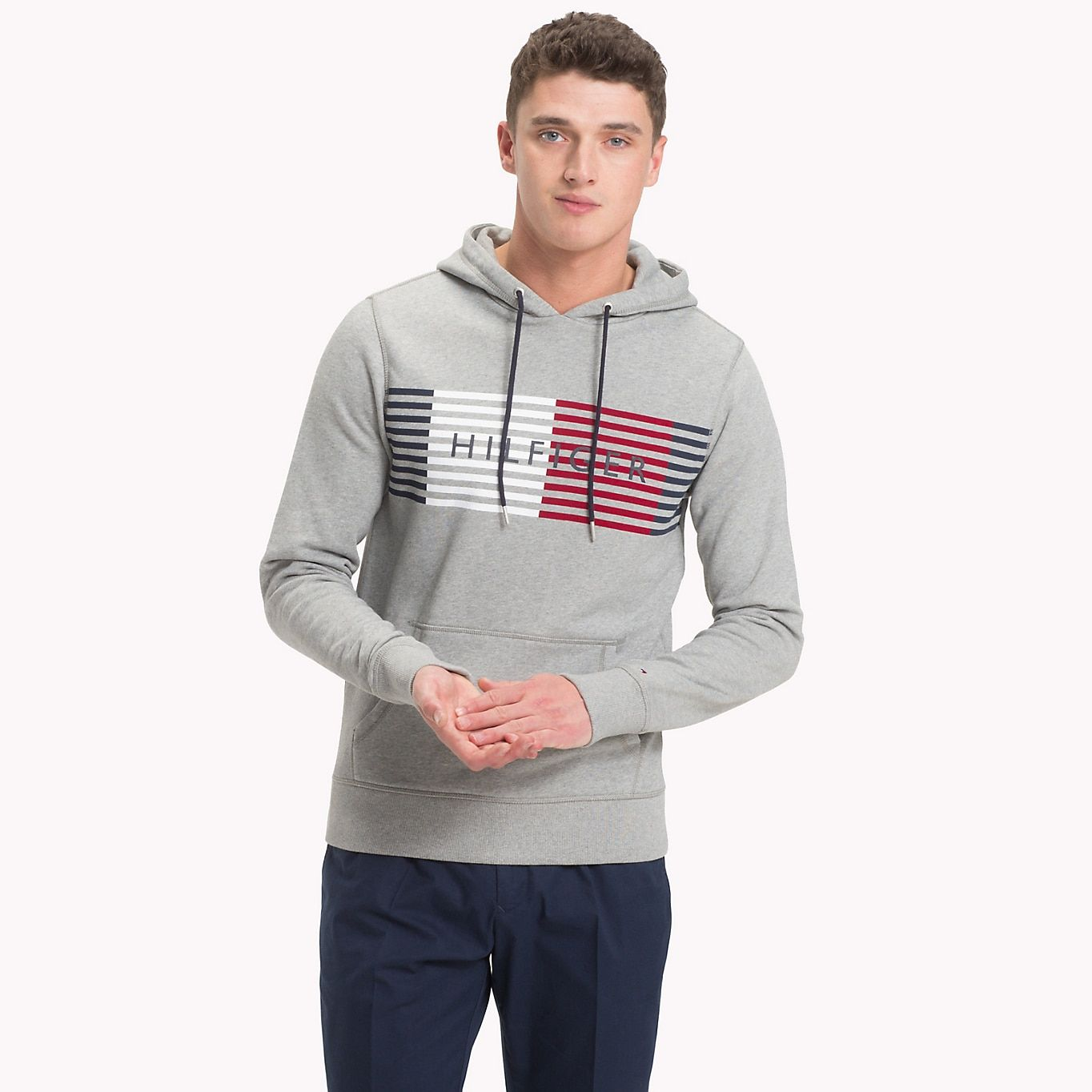 Cotton Terry Logo Hoodie GREY Tommy Hilfiger Hoodies