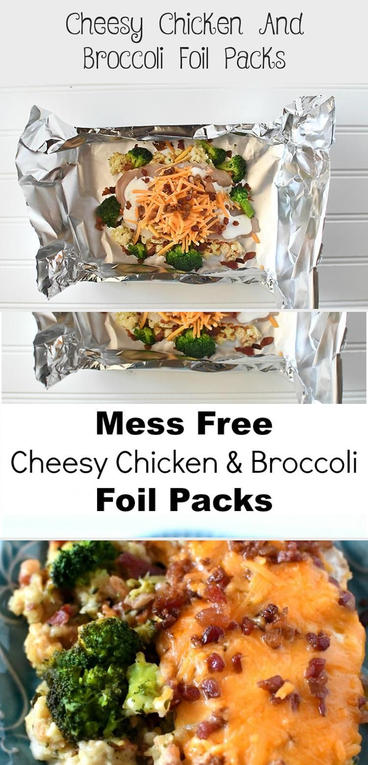 Photo of Cheesy Chicken And Broccoli Foil Packs – Baking