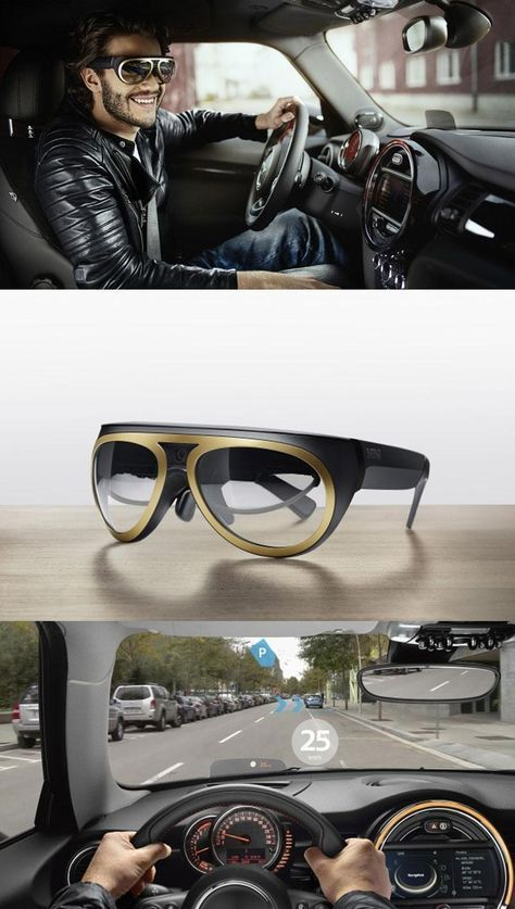 BMW's augmented reality glasses prototype enables motorists to see navigation details, speed and other…