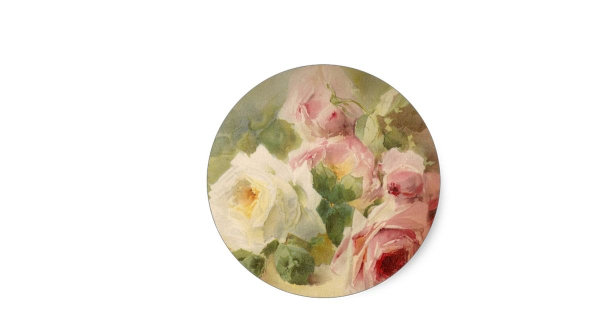 This is an absolutely amazing Watercolor of a bouquet of roses from the Victorian era.  It is truly one of the most feminine, shabby chic, and delicate vintage images I have found.  A perfect choice for someone who is very feminine, classy, loves pink, and flowers (roses).