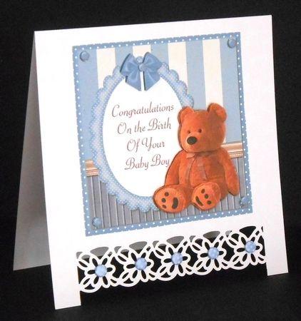 96f46ade22f6 Baby Boy Teddy Bear by Joan Prince